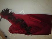 Продам красивое красное вечернее платье