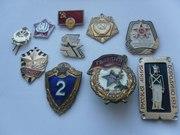 Значки,  жетоны,  медали